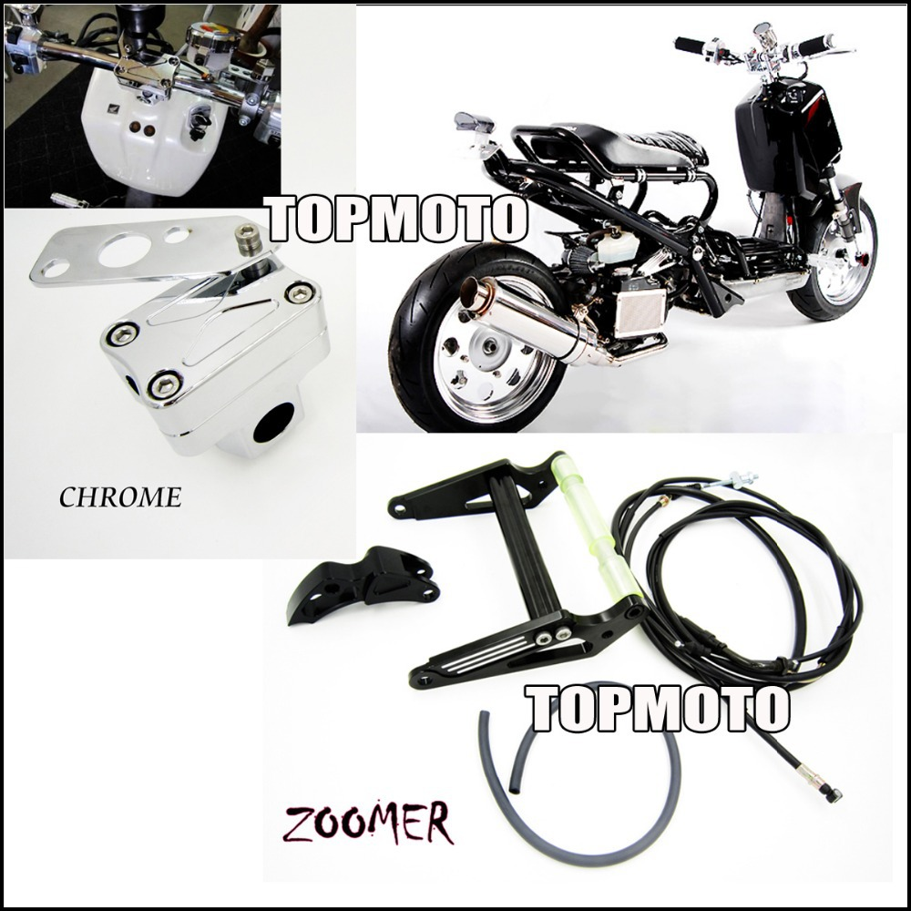 Black Engine Frame Extend Extension Kit With Handle Post For ZOOMER RUCKUS FI NPS50