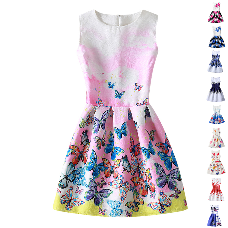 Summer Girl Dress Flower Kids Dresses For Girls Party ...