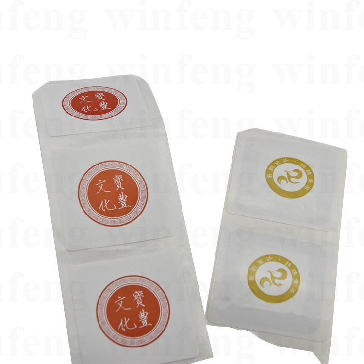 1000pcs/lot Customized Printed Adhesive NFC TAG 13.56mhz Passive NTAG215 Rewritable RFID Tag for Asset Management 1000pcs long range rfid plastic seal tag alien h3 used for waste bin management and gas jar management
