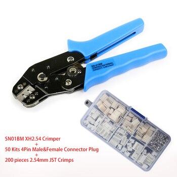 SN-01BM XH2.54 לחיצה כלי עם 2 P, 3 P, 4 P 5 P, 6 P, 10 P XH2.54 פין ודיור מסופי ערכות