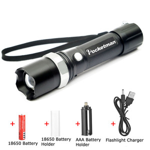Image 5 - LED flashlight Tactical Flashlight 5100Lumens XM T6 Zoomable 5 Modes Lanterna LED Torch 18650 Rechargeable For Camping