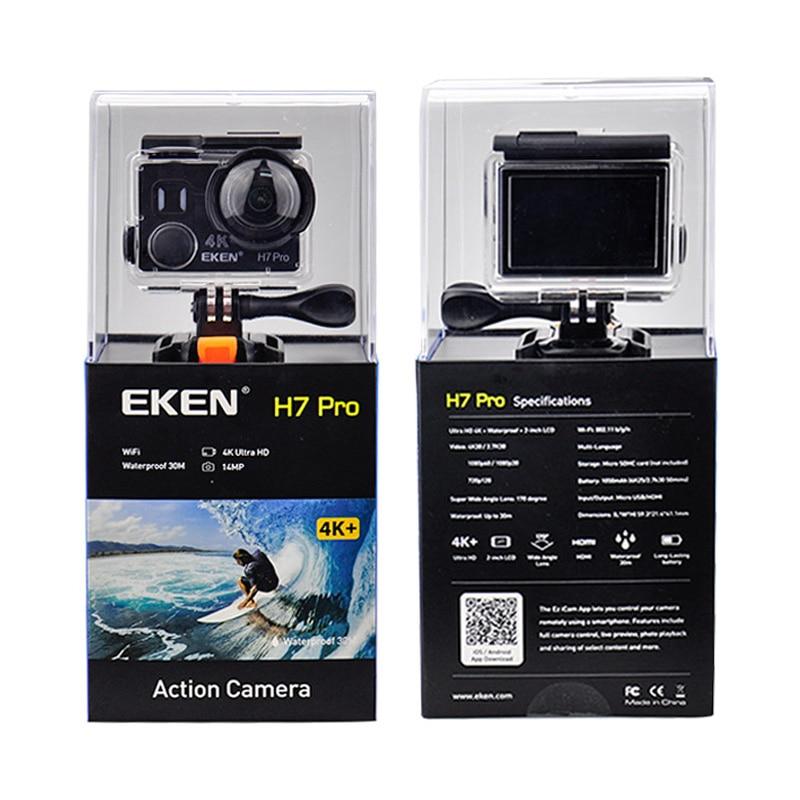 Caméra d'action EKEN H7 pro Ultra HD d'origine avec puce Ambarella A12 4 k/30fps 1080 p/60fps EIS 30 M caméra sport étanche