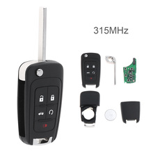 5 Button 315Mhz Keyless Entry Remote Key Fob OHT01060512 For Chevrolet Buick GMC