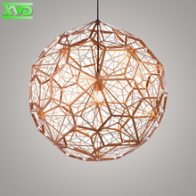Modern Stainless Steel Pendant Lamp Dropping Lights Hotel Hall Mall Lighting E27 110 240V Gold Silver