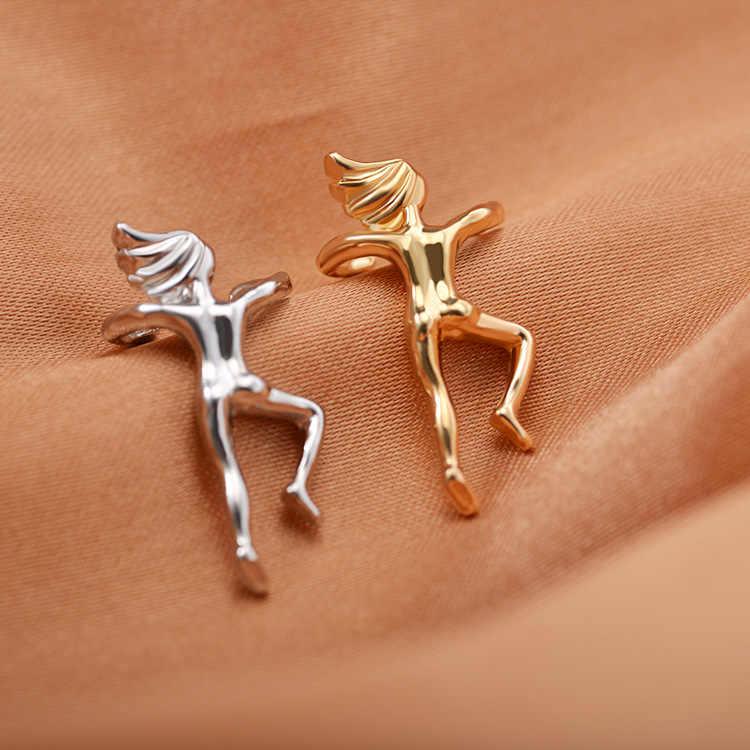 Художественная гимнастика Athlete цвета: золотистый, серебристый портрет ушные Клипсы из сплава с гальваническим покрытием уха ногтей комплект из модных женских ювелирных изделий