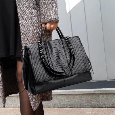 Hot Leather Handbags Big Women Bag High Quality Casual Female Bags Trunk Brand Shopping Totes Shoulder