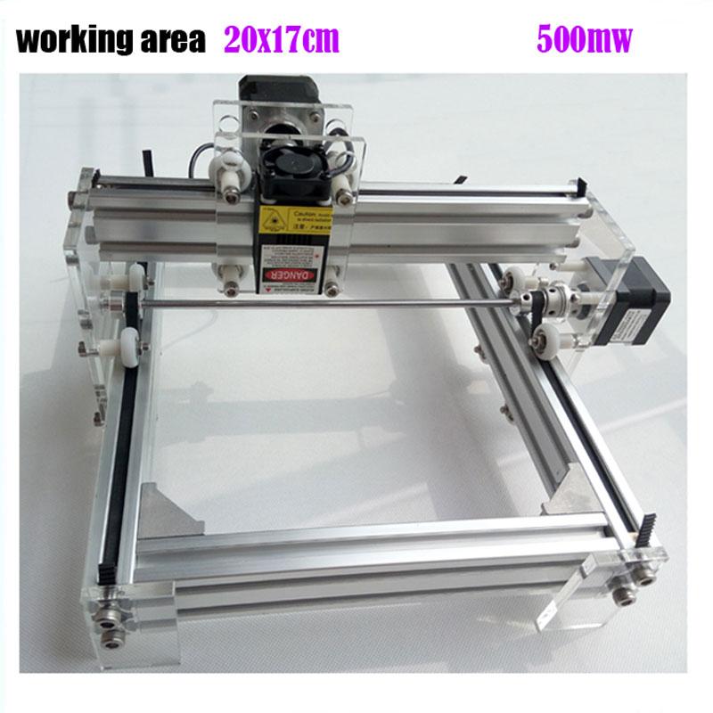 GRBL 500mW Desktop DIY kit blue purple Laser Engraving Machine Picture CNC Printer, working area 20cmx17cm