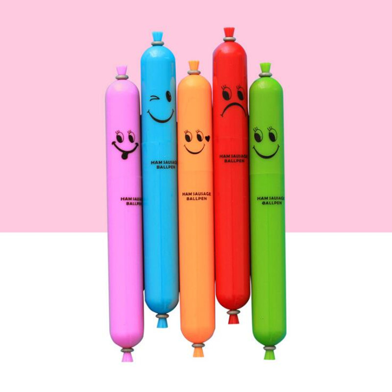 Novelty Cartoon Sausage Ballpoint Pen Office School Stationery Pens Kids Children Birthday Christmas Party Favors ...