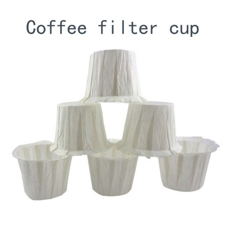 100pcs:  100pcs White Coffee Filters Single Serving Paper For Coffee Machine Filter Paper Cake Cup Coffee Filter Paper Bowl Coffeeware PY - Martin's & Co
