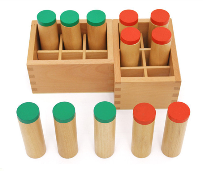Baby Toys Montessori Sound Boxes Wooden Toys Sound Barrels Infant Early Head Start Training Educational Child
