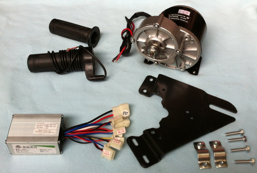 MY1016Z3 350W 36V gear brush motor with Motor Controller and Twist Throttle, DIY Electric Bicycle Kit my1016z2 250w 36v gear brush motor with motor controller and twist throttle diy electric bicycle kit