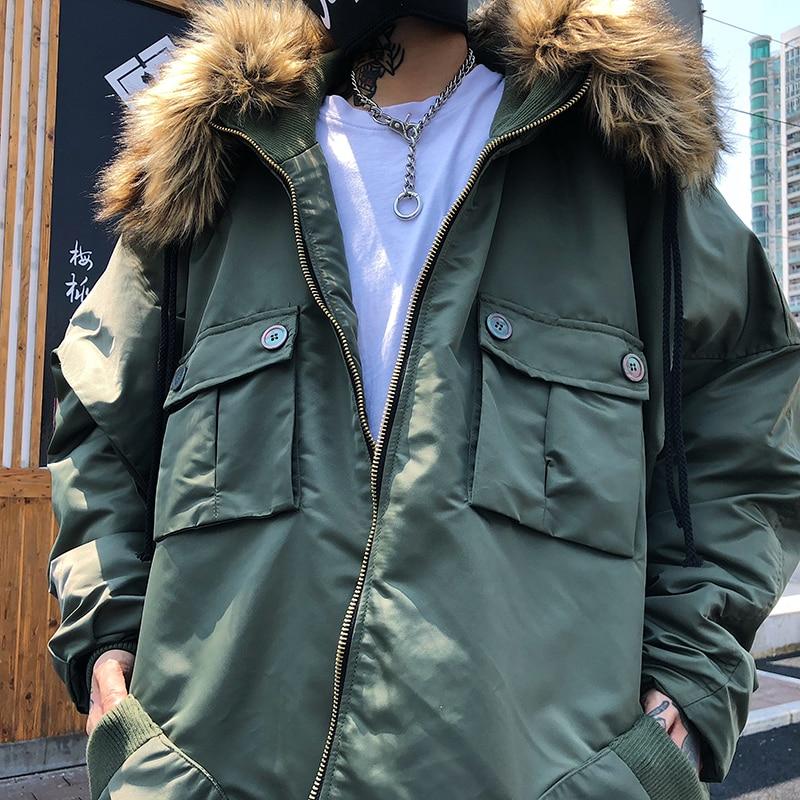 Sang De Griffe Hiver Veste Capot Modis Fourrure Qualité Manteau 2018 army Chaud À Green Surdimensionné Capuchon Plus Le Top Coupe Coton Haute Col Noir vent Épais w0Yd5qd
