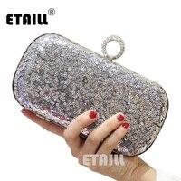 ETAILL Glitter Sparkling Women Clutch Bags Sequins Beaded Chain Mini Handbags Bridal Purse Luxury Party Evening Bag Wholesale