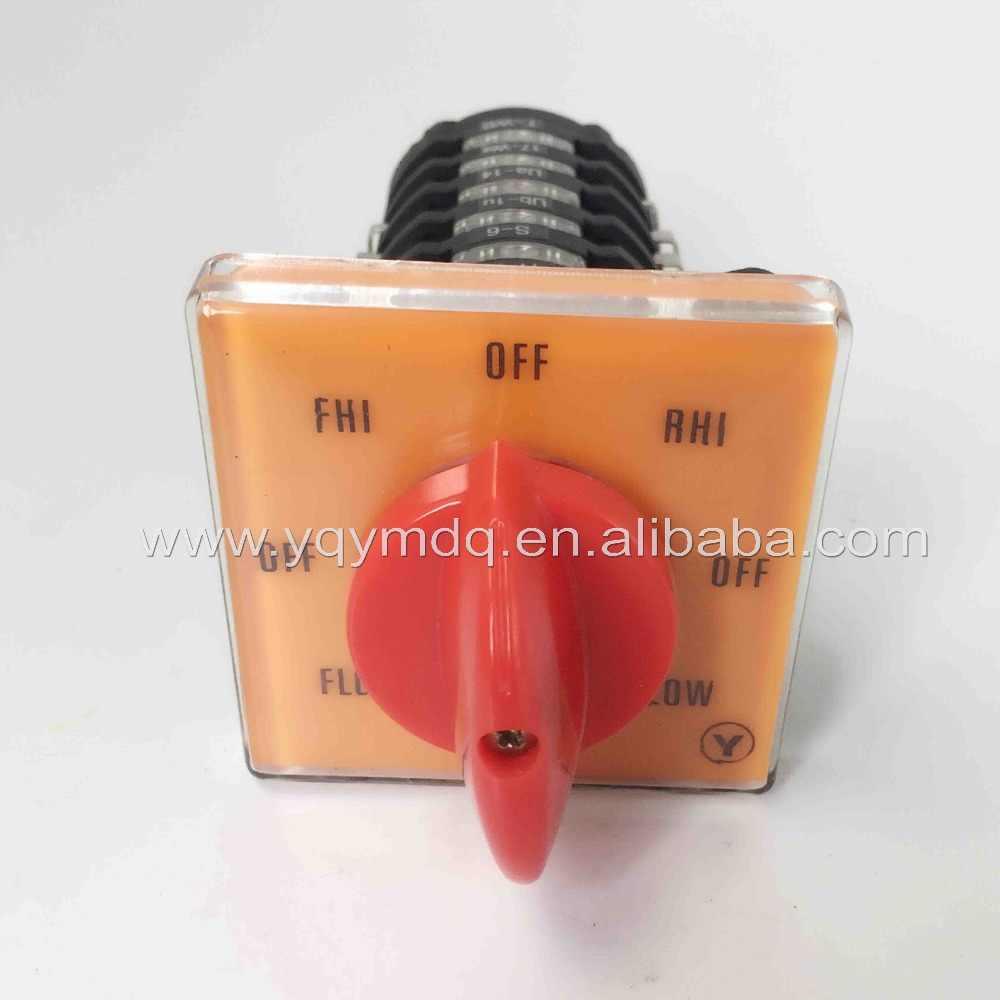 YMW28-20/6 Mesin Penggilingan Switch 20A 6 Polandia 8 Posisi Kontrol Kecepatan Motor Changeover Rotary Cam Switch T-16EXF64D-6