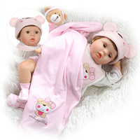 55cm Vinyl newborn baby doll real reborn Silicone blink eyes princess dolls kids Xmas birthday gift boneca collectible doll