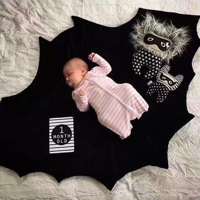 Baby Play Mats Cotton Batman Playmat Black Bat Stroller Bedding Blanket Infant Bebe Carpet Crawling Newborn Swaddling Pad
