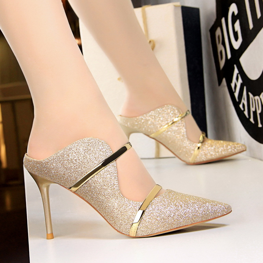 White Gold Sexy High Heels Shoes New Fashion Summer Style Women Platform Pumps For Party Wedding Shoes Night Club Heels 228GGX