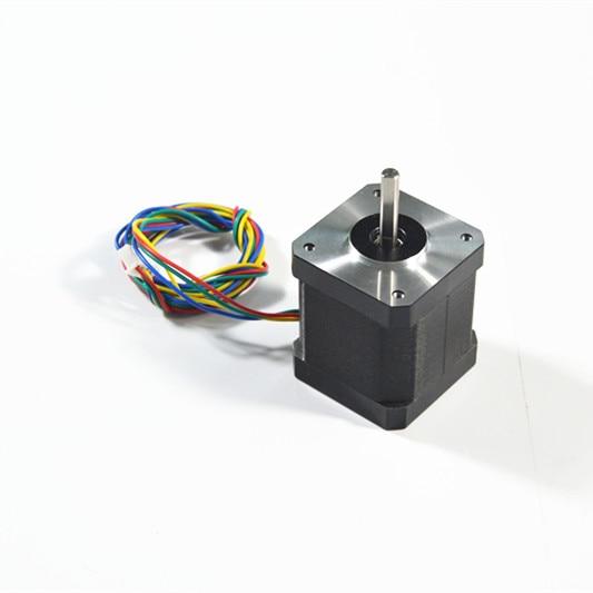 Bilgisayar ve Ofis'ten 3D Yazıcı Parçaları ve Aksesuarları'de 3D yazıcı için ücretsiz kargo 1 adet 4 lead Nema17 Step Motor 42 motor Nema 17 motor ile 42HS48 1684A DuPont hattı title=