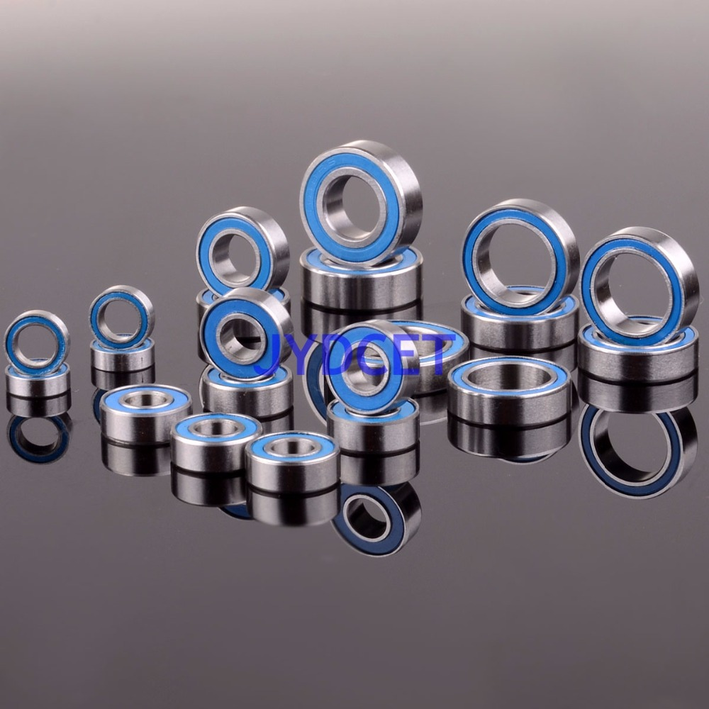 RC Traxxas Slash 4x4 Stampede Ball Bearing KIT 21PCS Metric Blue Rubber Sealed