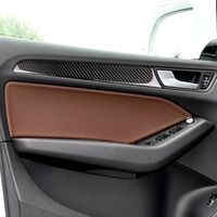 Carbon Fiber Left Right Door Handle Panel Cover Trim Sticker Set Adhesive Back Replacement For a4 B8 2009 2016