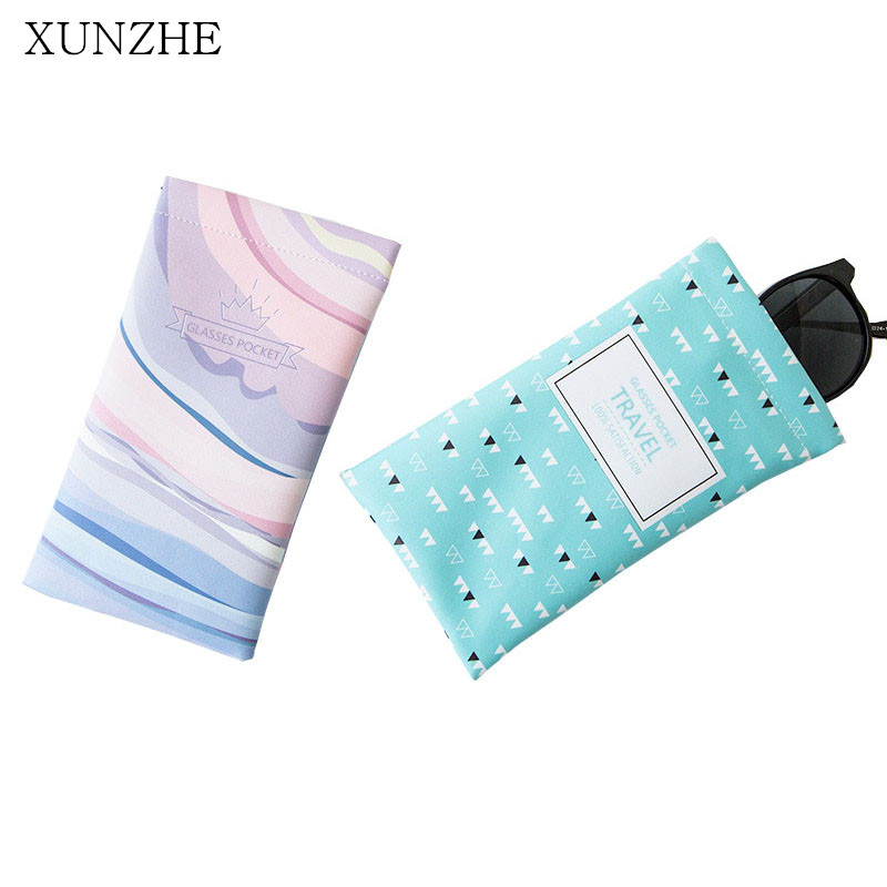 XUNZHE Cute Animal Travel Portable Sunglasses PU Storage Bags Organization Cactus Eyewear Pouch Earphone Glasses Storage Package