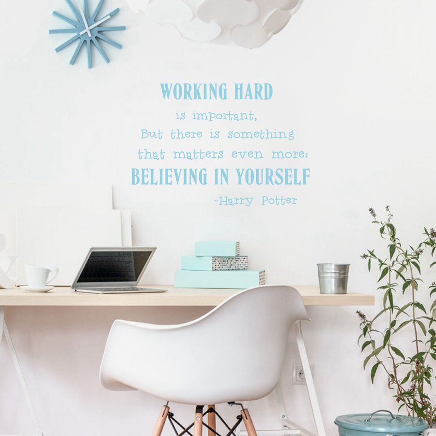 Believe In Yourself Wall Art Sticker Harry Potter Quotes Vinyl - Wall decals harry potter