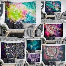 Hongbo Mandala Indian Tapestry Wall Hanging Bohemian Beach Mat Polyester Thin Blanket Yoga Shawl Mat 200x150cm Blanket