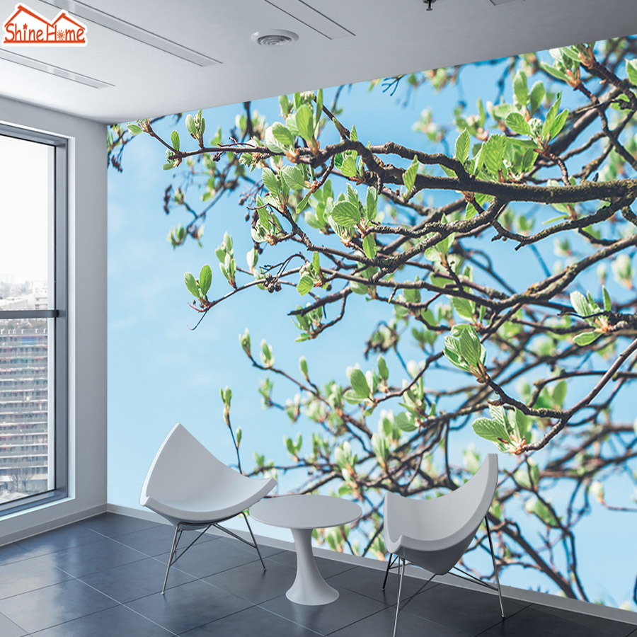 Spring Tree 3 D Murals Photo Wallpaper For Walls In Rolls 3d On Wall Papers Home Decor Wallpapers For Living Room Bedroom Mural