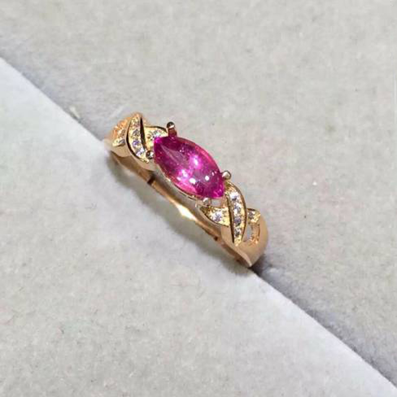 Anillos Qi Xuan_Fashion Jewelry_Pink Tourmaline Elegant Woman Rings_Plated Rose Gold Fashion Rings_Manufacturer Directly Sales Anillos Qi Xuan_Fashion Jewelry_Pink Tourmaline Elegant Woman Rings_Plated Rose Gold Fashion Rings_Manufacturer Directly Sales