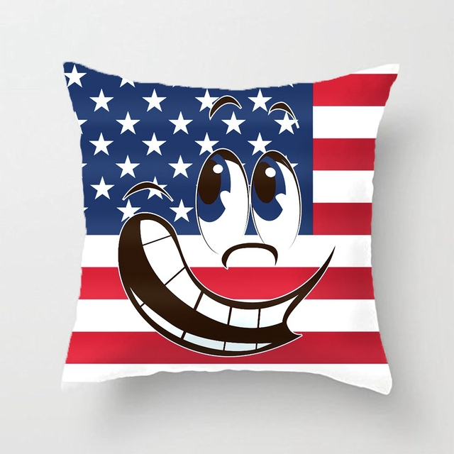 American Flag Angry Funny Smiley Face Emoticon Wedding Decorative Cushion Cover Pillow Case Customize Gift For Sofa Pillowcase Cushion Cover Decorative Cushion Coverscushion Cover Pillow Case Aliexpress