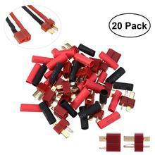купить WINOMO 10 Pairs Ultra T-Plug Connectors Practical Deans Style Male And Female With 20pcs Shrink Tubing For RC LiPo Battery недорого
