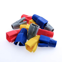 7mm Cat6 Cat6a Cat5e RJ45 Plug Ethernet Network Cable Strain Relief Boots RJ45 plug Caps RJ45 Connector Colorful boots HY1533 цена и фото