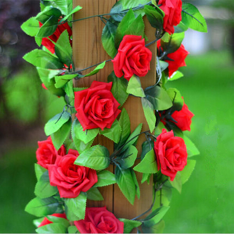 Silk cloth artificial flowers fake simulation red pink rose 1001 ivy silk cloth artificial flowers fake simulation red pink rose 1001 ivy vine hangings garlands for home wedding decoration in artificial dried flowers from mightylinksfo