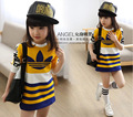 Cuhk TongQiu 2015 nueva chica render de manga larga T-shirt ropa superior sin forro de los niños