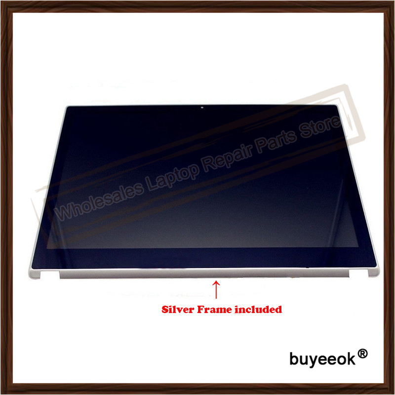 Original V5-571 Touch Screen Digitizer Display With Silver Frame bezel For Acer V5-571 V5-571P V5 571 B156XTN03.1 laptop keyboard for acer silver without frame bulgaria bu v 121646ck2 bg aezqs100110