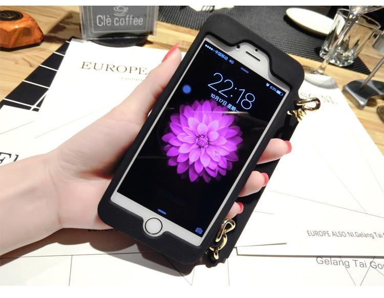 3D Purse Handbag Ponsel Lembut Silicone Kembali Kasus Cover Kulit - Aksesori dan suku cadang ponsel - Foto 2