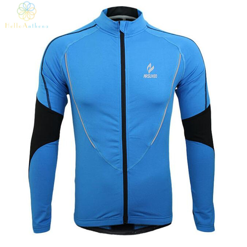 Winter Clothing Cycling Running Zip Fleece Men Long Sleeve Coat Jackets Outdoors Sports Fitness Tights 2017 Thermal Jersey 2017
