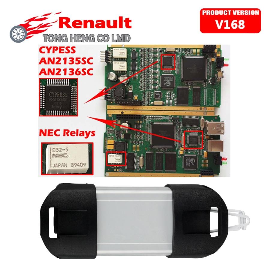 imágenes para Precio de fábrica Goden Lado para V168 Herramienta de Diagnóstico Renault Puede Acortar con el CIPRÉS AN2135SC o AN2136SC Chip NEC Relés