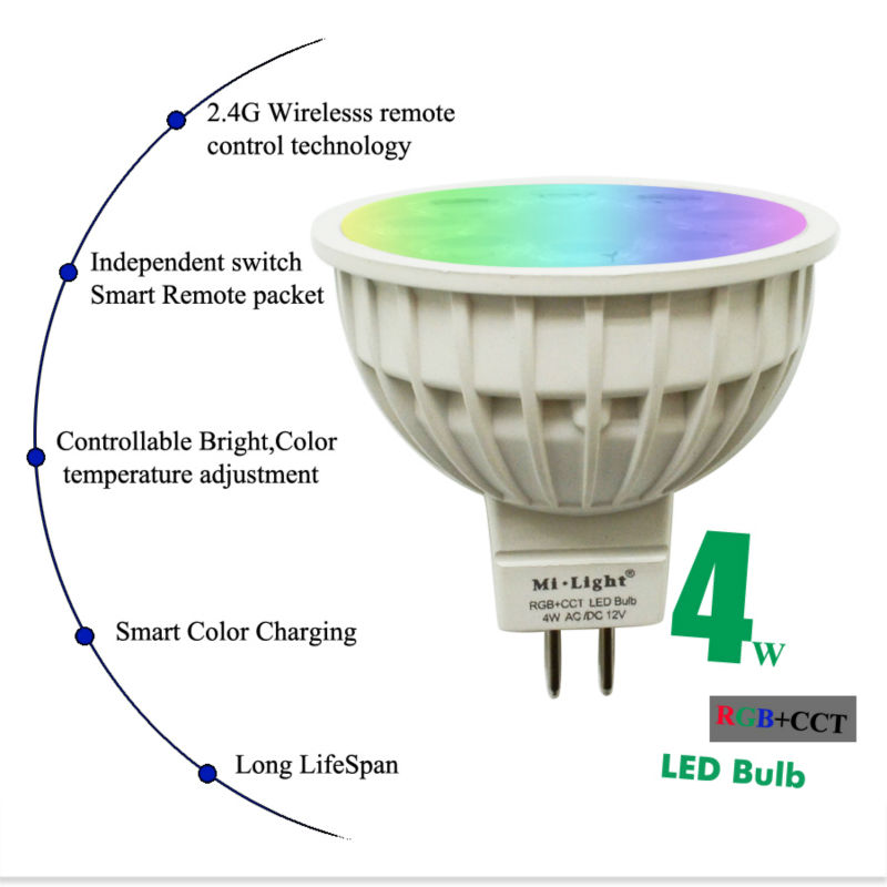 4W RGB+CCT MR16 GU10P