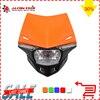 6 Color Motorcycle Dirt Bike Motocross Enduro Universal Headlight Headlamp With Bulb For KTM SX EXC