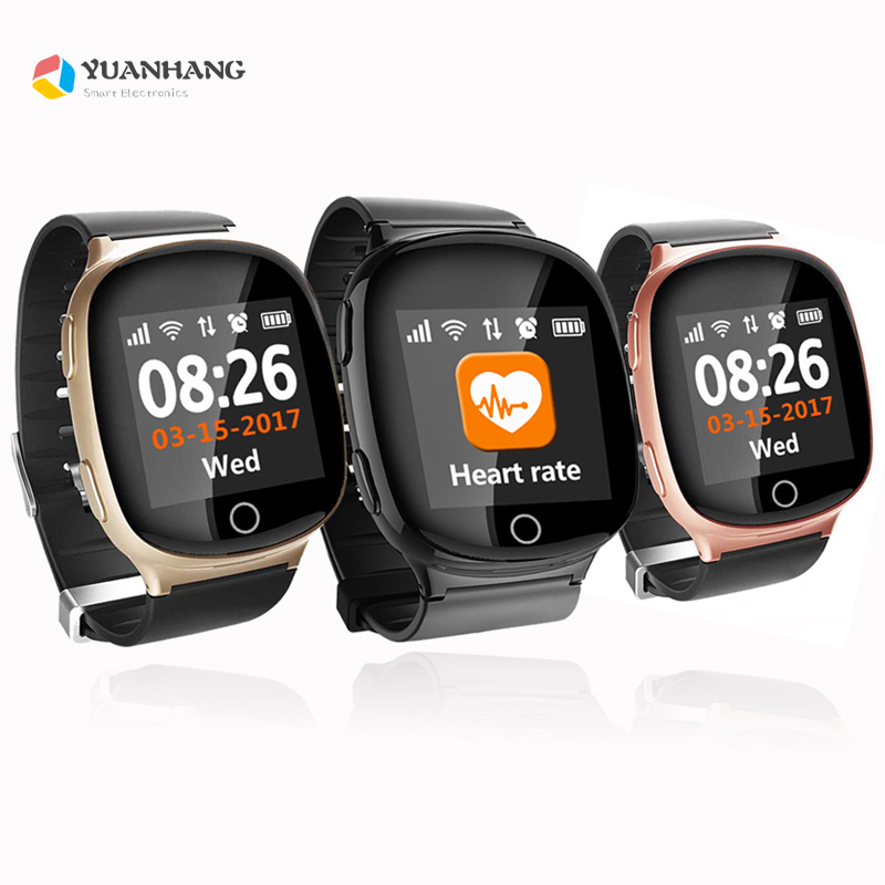 Smart Universal GPS LBS Tracker Locator Finder SOS Call Watch For Elder Parents Heart Rate Monitor Alarm Anti-Lost Wristwatch yuanhang smart universal gps lbs tracker locator sos call watch for elder parents heart rate monitor alarm anti lost wristwatch
