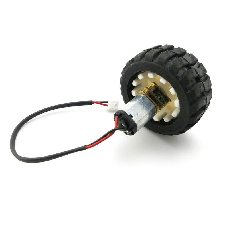 N20 Micro Gear Motor & Rubber Wheels Set for DIY Robot Smart Car Model 3V 6V N20 Metal DC Change Speed Gearbox Motor smart car model wearable rubber wheel