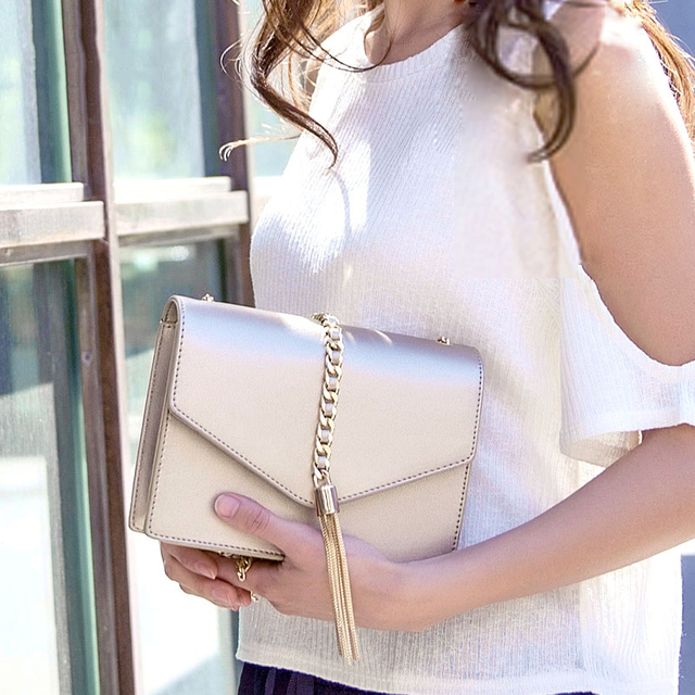 2017 Luxury Brand Women Leather Handbags Design Gold Small Crossbody Bags For Women Sweet Lolita Envelope Messenger Bag Shoulder