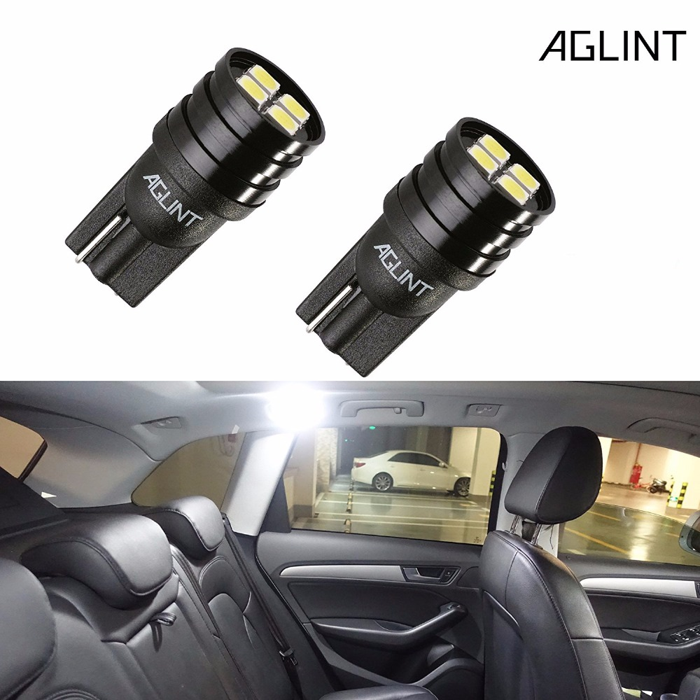 AGLINT 2PCS 194 Led Bulb CANBUS Error Free W5W T10 2825 Wedge Bulbs 3030 Chipsets 4-SMD for Car LED Dome Map Reading Light wholesale 10pcs lot canbus t10 5smd 5050 led canbus light w5w led canbus 194 t10 5led smd error free white light car styling
