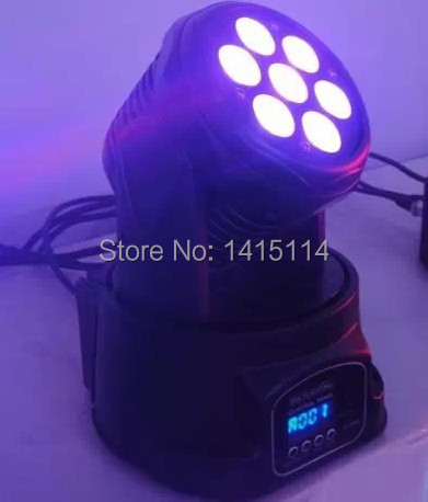 10pcs/lot 7*10W RGBW 4 in 1 LED moving head wash light led mini moving head dj lights 4pcs lot 10w led mini moving head beam light 4 in 1 rgbw led moving head for party lights led dj lights