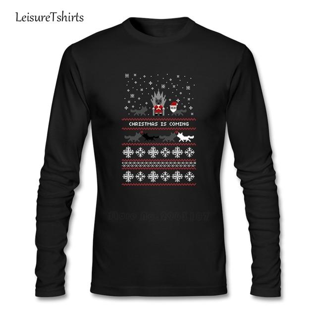 Rojo Navidad suéter + Camiseta adolescente único camisetas 2018 Loose  t-shirt hombres otoño 100 2ac41880dfeeb