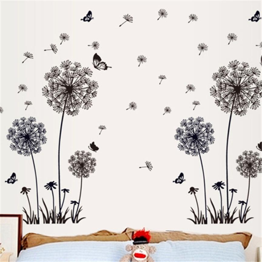 1pcs New Creative Dandelion Wall Art Decal Sticker PVC Removable Mural PVC  Home Decor Gift Cute Dandelion Wall Stickers 70*50cm In Wall Stickers From  Home ...