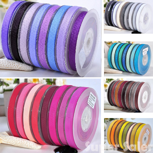 """3/8"""" 9MM Solid Color Grosgrain Ribbon Packing 100yard/lot 196 Colors for DIY/Craft/Sewing/Party/Packaging Free Shipping"""