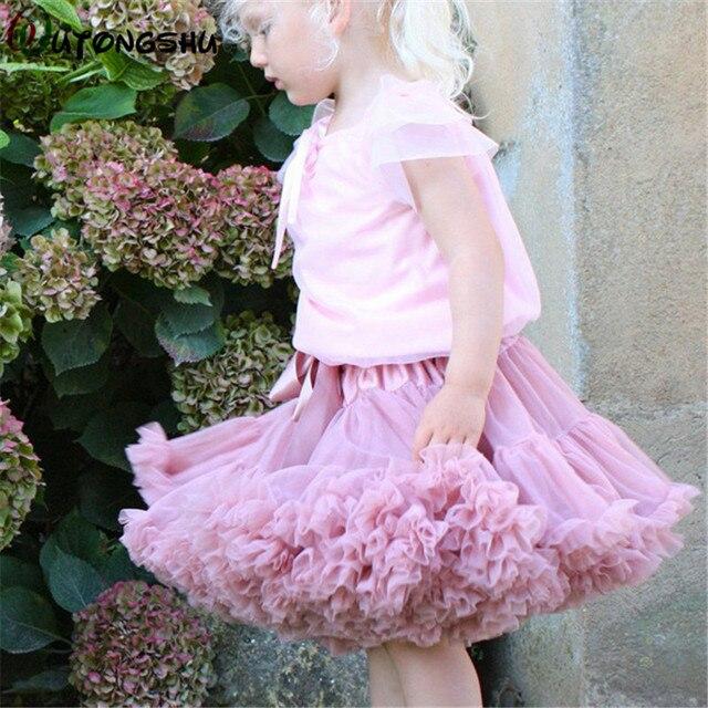 9057635f68c9 Baby Girls Tutu Skirt Children Ballerina Pettiskirt Kids Miniskirt ...