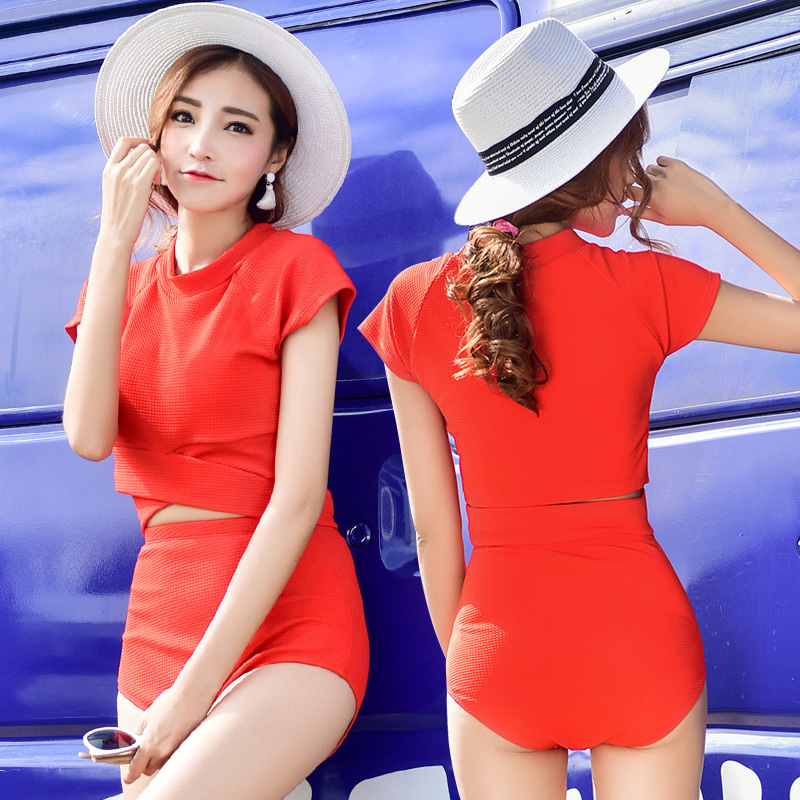 Sexy One Piece Swim Suits Swimsuit Swimwear Female May Beach Girls 2017 New Pure Korean High Waist Massage Push Up Plavky Damy 2017 one piece swimsuit sexy push up swimwear female plus size swimwear red white may beach halter top bathing suits 3xl bikini